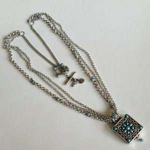 Retired BRIGHTON Southwestern TOGGLE necklace